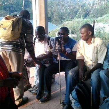APTICA spends happy end of year moments with more than 40 blind and visually impaired in Yaounde Cameroon.