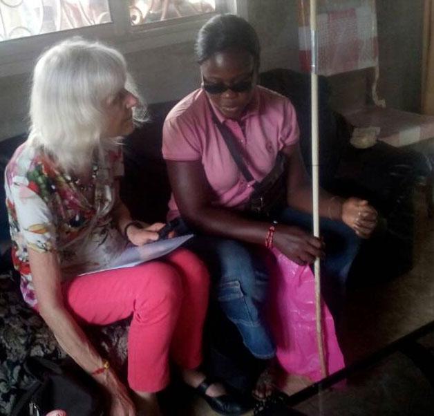 APTICA reçoit une nouvelle impulsion de la secrétaire générale de Fakkel-2000 pour l'intégration des aveugles au Cameroun